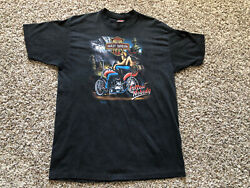 Vintage 3D Emblem HARLEY DAVIDSON Follow Nobody Independent 1991 XL Shirt VTG $199.99