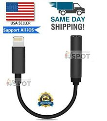 For Apple AUX Adapter Jack Lightning to 3.5mm Cord Dongle iPhone 7 8 11 PLUS MAX $4.59