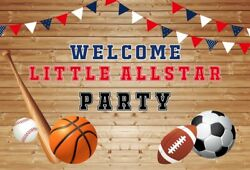 7x5ft Background Welcome Little All Star Party Photography Props Backdrop Banner $11.27