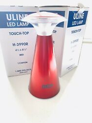 Uline Wireless Desk Touch-Top 12 LED Lamp Light Lantern Patio Red New Lot of 2 $18.50