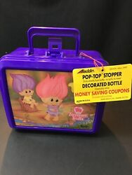 Treasure Trolls Aladdin Vintage 1992 Lunch Box And Thermos New $30.00
