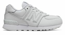 New Balance Kid#x27;s 574 Little Kids Male Shoes White $20.46