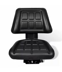 NEW Black Tractor Seat Universal w Backrest Slide Track Steel Compact Mower $89.98