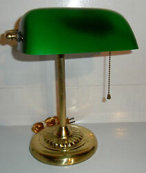 Banker#x27;s LAMP Vintage Green Glass Traditional Desk Table Office Study Lighting $39.99