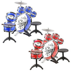 Urban Kit Kids Musical Drum Instrument Set Toy Band BlueRed $31.95