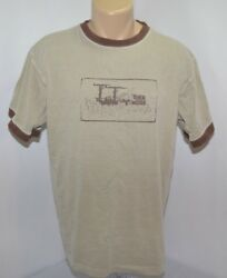VTG Toes On The Nose Surf Skate Beach Brown Short Sleeve Crew T Shirt Mens M $22.49