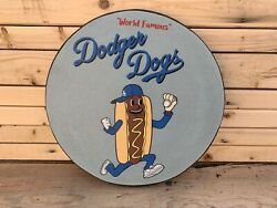 Rustic Style 12quot; Dodger Dogs wooden sign Display $29.95