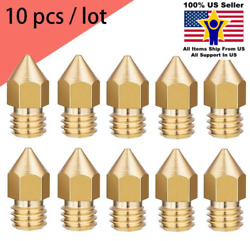 10pcs Creality 0.4mm Brass Extruder Nozzle Creality CR-10 Ender 3  $11.49