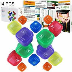 21 Day Portion Control Diet 14 Kit Diet Fix Weight Loss Guide Food Plan $32.99