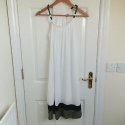 Ladies White Summer Beach Dress Cover Up Size 8 GBP 10.00