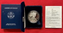 2004-W PROOF SILVER AMERICAN EAGLE COIN WITH BOX & COA