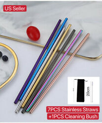 10.5 Inch Reusable Stainless Straws Steel Metal drinking Straws Long for 30oz $8.99