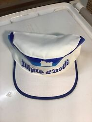 Vintage White Castle Restaurant Light Weight Painter's Cap White and Blues New $20.00