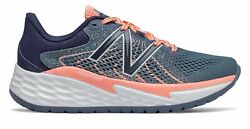 New Balance Women's Fresh Foam Evare Shoes Grey with Pink $42.30