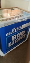 Brand New in the box Bud light store front 25oz can refrigerator RARE