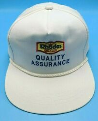 RHODES BAKE N SERV QUALITY ASSURANCE vintage white adjustable cap hat $14.95
