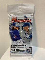 (1) 2020 Topps Bowman Baseball Factory Sealed Unopened Jumbo Fat Pack ~ 19 Cards