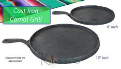 MEXICO NEW 10quot; or 8quot; Comal Cast Iron Tortilla Griddle Skillet Fajita Kitchen BBQ $22.48
