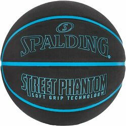 Spalding NBA Street Phantom Outdoor Basketball Neon Blue Black Size 7 29.5 inch $27.99