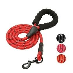 5FT Dog Leashes Rope with Padded Handle Reflective Threads for Large Dog Walking $11.99