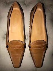 Pre Owned Tan Leather TOD#x27;S Driving Loafers 36 6 $30.00