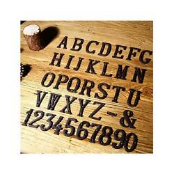 Cast Wrought Iron Black Antique House Door Alphabet Letters and Numbers $2.49
