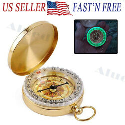 Portable Compass Brass Keychain Watch Pocket Outdoor Camping Hiking Navigation $6.95