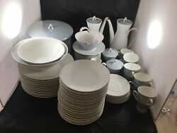 Vintage Classic Modern White China by Rosenthal Continental $1052.00