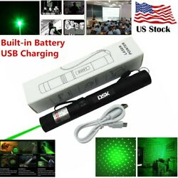 990Mile 303 Green Laser Pointer Pen Rechargeable 532nm Visible Beam Star CapUSB $9.80