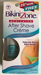 Bikini Zone Medicated After Shave Cream w Lidocaine for Bikini Bumps 1.25 oz NEW $11.95