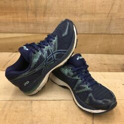 Asics Womens Gel Nimbus 20 Running Shoes Blue Lace Up Mesh Breathable T850N 7.5 $34.99