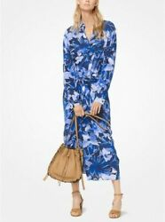 Michael Kors Collection 4 NEW $1995 100% Silk Floral Runway Midi Dress