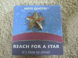 Pilgrim Imports Note Quotes Metal Arts Reach For A Star Notepad    New   $3.99