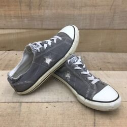 Converse One Star Boys Athletic Shoes Gray Low Top Lace Up Sneakers 603653FT 5 $17.80