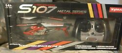 Syma 3CH Mini Helicopter RC Drone Gyro Metal Infrared S107G Red. Pre owned $12.70