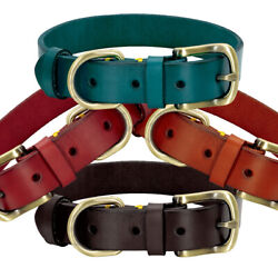 Soft Pet Dog Leather Collars Heavy Duty Adjustable for Small Large Dogs XS 2XL $12.99