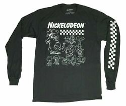 Nickelodeon Hey Arnold Ren Stimpy Rocko Rugrats Men#x27;s Long Sleeve T Shirt $19.99