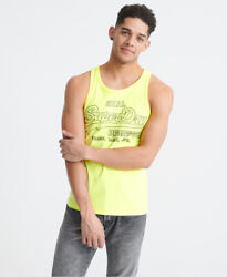 Superdry Mens Vintage Logo Outline Pop Vest Top $12.48
