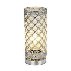 Crystal Table Lamp Touch Control Dimmable Accent Desk Lamp Bedside Modern Table $43.99