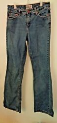 LEVIS WOMENS AT WAIST BOOT CUT BLUE JEANS SIZE 10M 30quot; WAIST 30quot; LENGTH $22.95