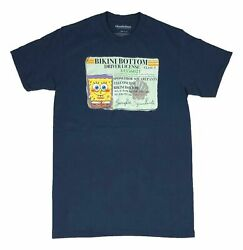 Nickelodeon Spongebob Squarepants Bikini Bottom Drivers License Men#x27;s T Shirt $14.99