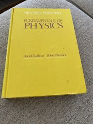 Fundamentals of physics hardcover textbook by David Halliday and Resnick $9.99