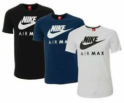 Nike Men#x27;s Air Max Graphic T Shirt Dry Fit Swoosh Logo Athletic Active Wear Gym