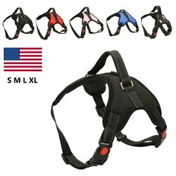 Medium Large Dog Harness Strap No Pull Adjustable Reflective with Control Handle $7.98