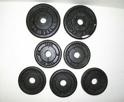 YORK Barbell Weight Plates (2) 5 pounds & more 22 12 Pounds Total Weight LK $10.00