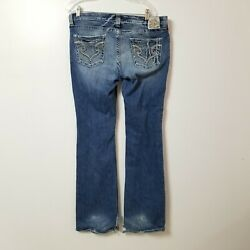 Big Star Womens Casey K Jeans 34XL Measures 35x35 Low Rise Fit Boot Medium Wash $31.95