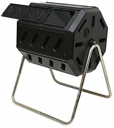 FCMP Outdoor IM4000 37 Gal Dual Chamber Quick Curing Tumbling Composter Soil Bin $98.09