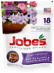 Jobes Hanging Baskets and Potted Plants Fertilizer Spikes 18 Spikes Resealable $9.99