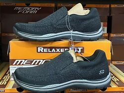 Skechers Mens Slip on Relaxed Fit Memory Foam shoes New  $41.99