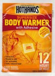 Hothands 12 Hour Supersize Body Warmer with Adhesive - 40 Pack Case $39.99